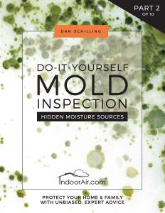 Cover of DIY Mold Inspection book that explains all the moisture sources that initiate mold contamination problems in indoor environments.