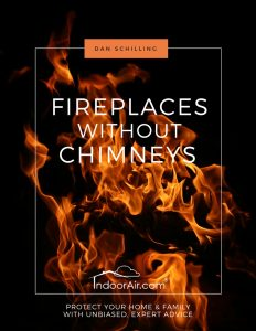 Fireplaces without Chimneys book explains the pros and cons of portable fireplaces