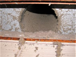 Dust for dust mites inside air duct