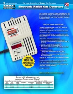 Radon Monitor Specifications Brochure